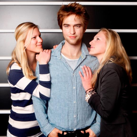 In Madame Tussauds op de foto met Robert Pattinson