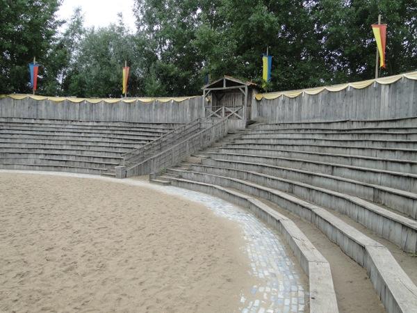 De Arena in het Archeon waar gestreden wordt tot de dood