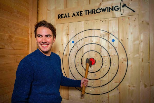 Real axe throwing