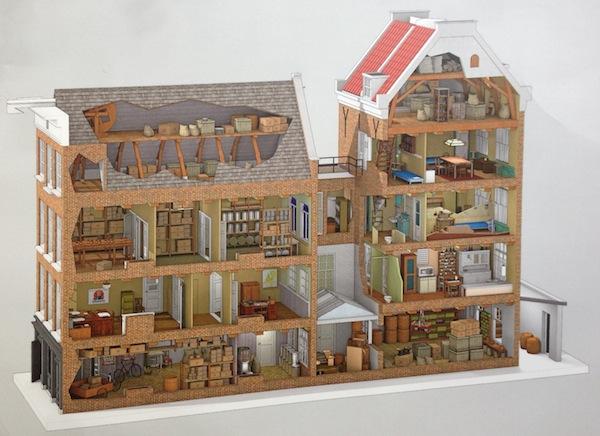 Plattegrond bij Anne Frank Huis in Amsterdam - Fijnuit.nl