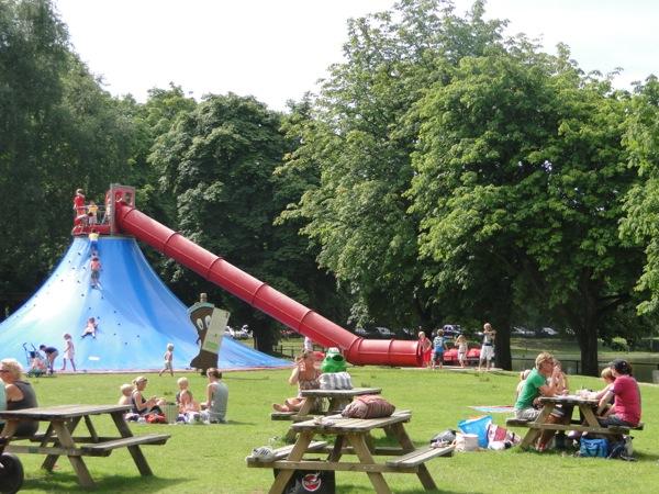 Lekker Picknicken Met Prachtig Uitzicht Bij Speelpark Oud Valkeveen