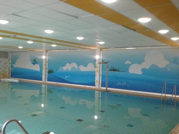 Zwembad De Does : Het kinderbad met nieuwe schermen bij zwembad de does in